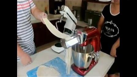 hauswirt海氏790厨师机  -750厨师机,压面  配件效果   细面条