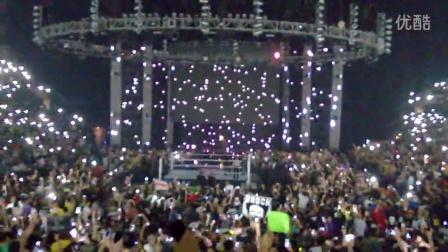 WWE SummerSlam2014现场拍摄Bray Wyatt出场 正面