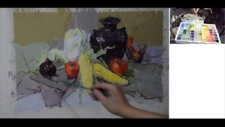 雅途万能色(太神奇了,不用调色色彩还能画这么好)告别调色依然能画好色彩-范画3