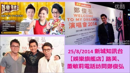 2014-8-25【娱乐旗舰店】路芙、董敏莉电话访问郑俊弘