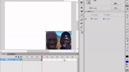 65﹑Adobe Flash cc 图片散件变图片散件动画实例!