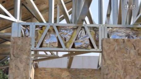 小型轻钢房屋建造过程视频