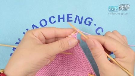 插肩后片开口领子毛线编织简单方法