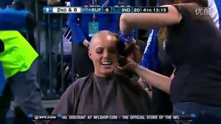 Cheerleading girls shave their heads bald