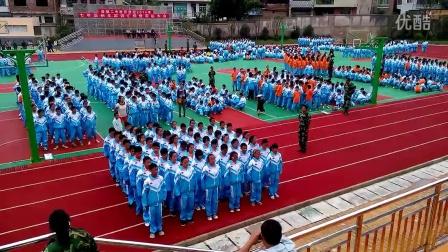 清镇二中2014级七年级27班新生军训