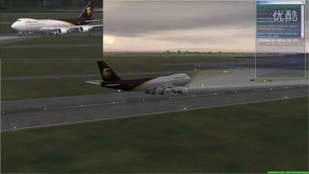 【FSX新手】波音B747-8F黄昏降落北海道新千岁国际机场