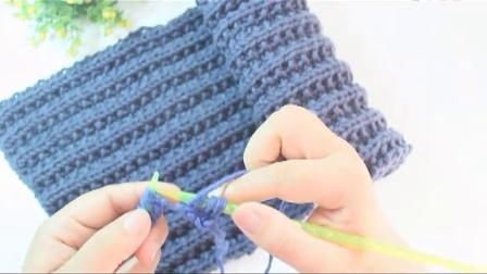 第55集 一帘幽梦围巾的编织方法 手工棒针男士女士包包围脖的制作方法 怎样织情侣围巾温暖你心毛线店原创