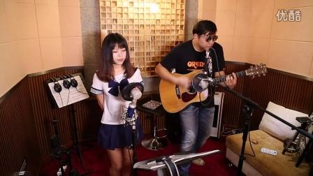 吉他弹唱 Rolling star(郝浩涵和Amylee)