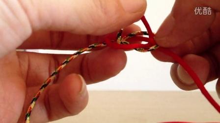 【方之物语】DIY手工手绳 金刚结手绳 结尾部分(双线纽扣结)