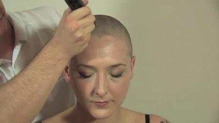 Deidra shaves head bald