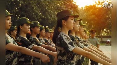 北京舞蹈学院新生军训 女生空中一字马