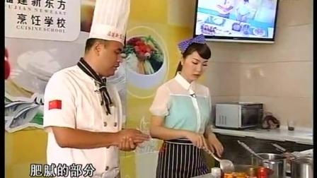 福建新东方厨师学校来教学鸭肉炖土豆