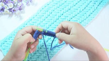 温暖你心毛线181麦穗花围巾的编织教程手工针法如何织围脖