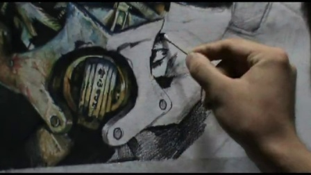 变形金刚大黄蜂彩铅画