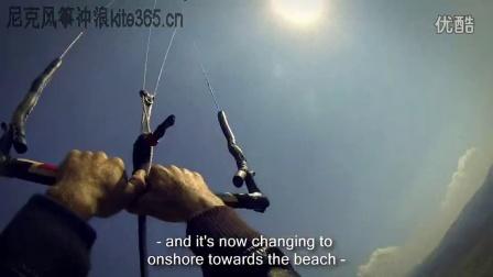 风筝冲浪世界纪录--909米悬崖跳下