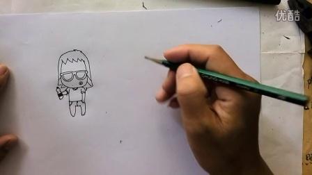 06简单漫画技法(六)q版芬达公仔画法