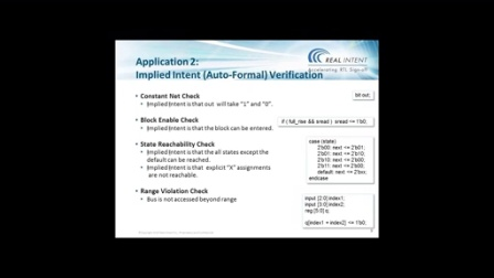 Shorten Verification Debug Time w/ Adv Static Tech - RealIntent: Ramesh Dewagan