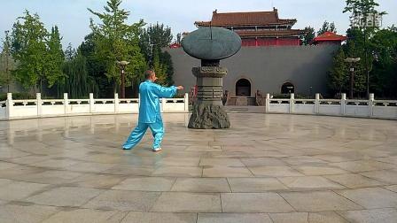 简化24式太极拳慢动作音乐口令刘宏孟演练背面 附动作名称