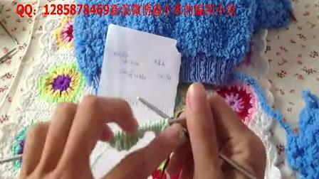 48集棉线边直接往上织绒绒线马甲的换线减针方法小米的编织小屋毛线的织法视频全集