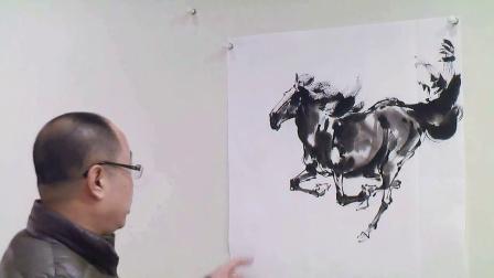 如何画马,水墨画马,国画画马