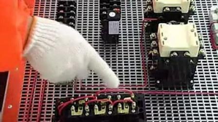 安装电动机双重联锁正反转控制电路