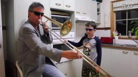 妈妈回来要被你们气死,父子厨房表演Timmy Trumpet