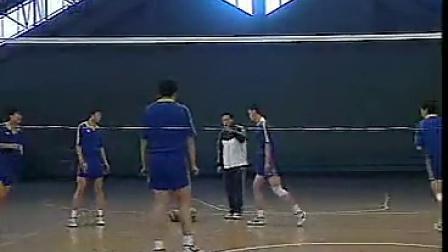 排球教学视频32 进攻战术、二传、防守训练