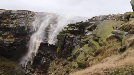 Kinder Downfall is Blown Back Up By High Winds