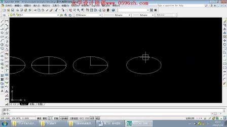 漳州永学电脑培训,室内设计培训,广告设计培训,CAD,椭圆的绘制