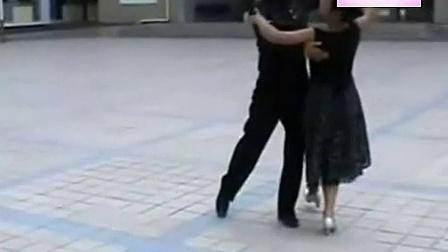 (慢四步)国标舞教学视频 慢四步示范_标清