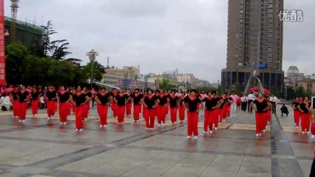 海阳北山健美舞蹈队《中国吉祥》.处理视频