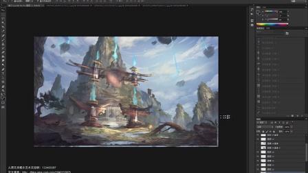 《七星山》-【火源兄弟工作室】JIE.L东方风格场景设计演示视频(上段)
