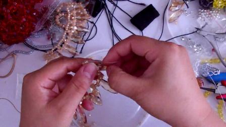 q184609285小梅最爱手工--水晶串珠长柳叶串项链方法多看多听多思考