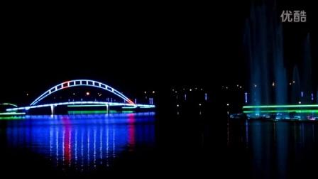 美哉,龙游河公园音乐喷泉夜!(图片视频 )【江苏如皋】