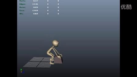 人物搬起重物走动的动画