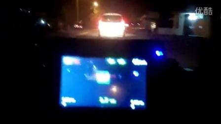 LDWS车道偏离警告 防撞预警系统(FCWS)晚上效果