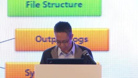 """盈世Coremail研发总监张文伟分享""""如何实施EAI经验""""。"""