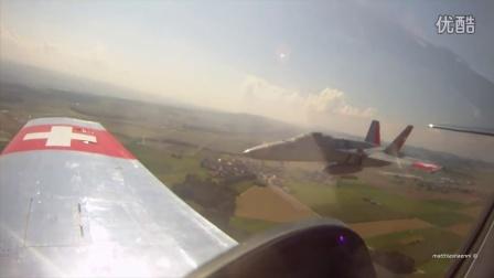 瑞士空军成立百年纪念-野马与大黄蜂编队