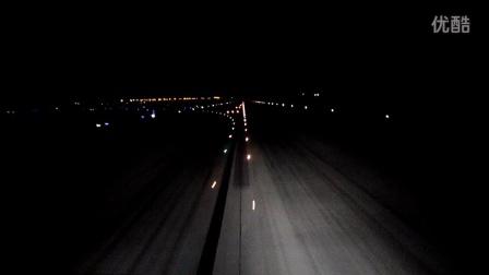 鲨鳍小翼夜降双流机场