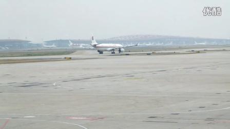 北京首都机场T2航站楼-各种飞机调头