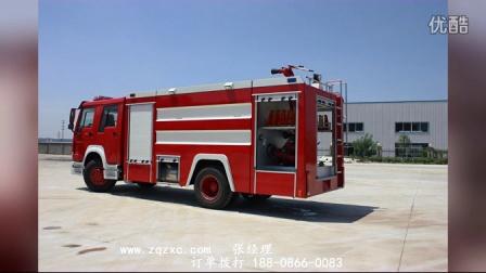 高品质消防车视频内附试水图片