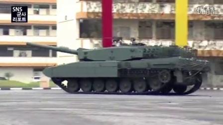 军情解码--新加坡德制豹式主战坦克操纵表演