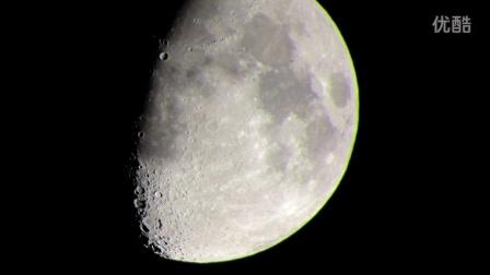 20倍望远镜下的月球