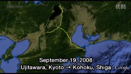 跨越全日本 史上最大「GPS 绘画」示爱求婚影片