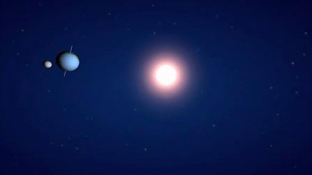 月球公转、地球自转和公转动画演示