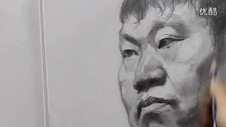 九度画室 乔建国2-5男中年素描头像_标清