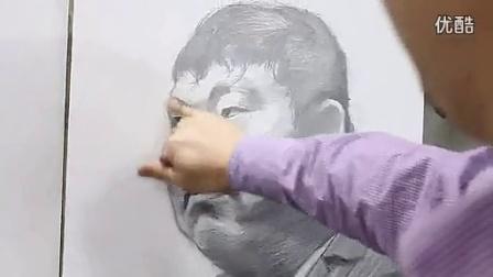九度画室 乔建国2-3男中年素描头像_标清