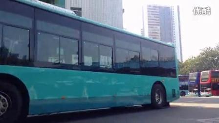 """【2014】深圳巴士集团厦门金龙""""空间大师""""纯电动巴士出南头总站"""