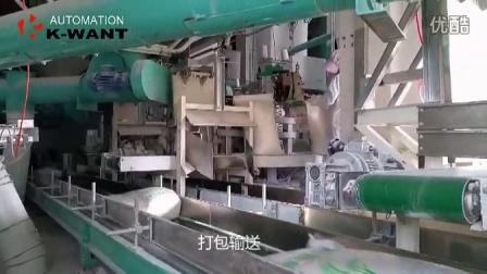 海福面粉厂机器人码垛打包输送