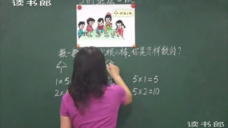 黄冈中学人教版数学二年级上册 5的乘法口诀